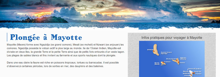 Oceanes - Tourisme Mayotte