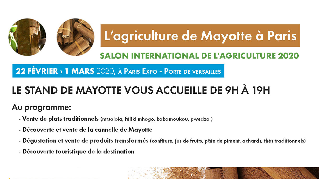 Mayotte au Salon de l'agriculture - Tourisme Mayotte